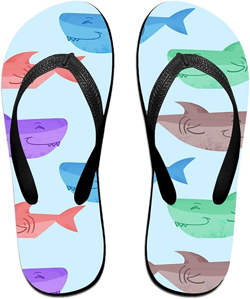 Tailing Flip Flops Cartoon Fish Colored Unisex Trendy Print Slippers Beach Sandal