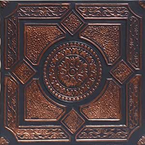 lima accent copper black 20x20 pvc ceiling tile amazon. Black Bedroom Furniture Sets. Home Design Ideas