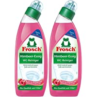 Frosch Raspberry Vinegar Toilet Cleaner 750 ml – Against Limescale and Urine Stone (Pack of 2)