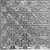Shanko LS208DA Pattern 208 Authentic Pressed Metal Wall and Ceiling Tiles, 20 sq. ft., Lacquered Steel