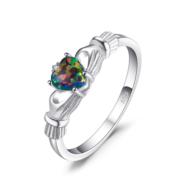 JewelryPalace Magnifique Bague Coeur Femme en Argent Sterling 925 EU-JCR