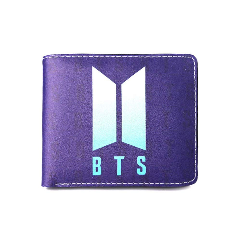 Youyouchard BTS Wallet for Men Leather Bifold Stylish Wallet ID Window Card Case