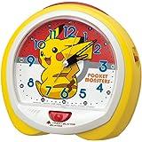 セイコークロック 置き時計 04:ピカチュウ(黄) 本体サイズ:13.0×14.0×9.6cm ポケットモンスター ピカチュウ アナログ 切替式 CQ421Y