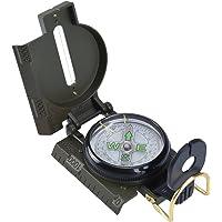RUNACC Multifonctionnelle Boussole Militaire de Visée Antichoc Prismatic Sighting Compass Parfait pour Randonnée Camping ou d'activités Extérieur , Verte de l'armée