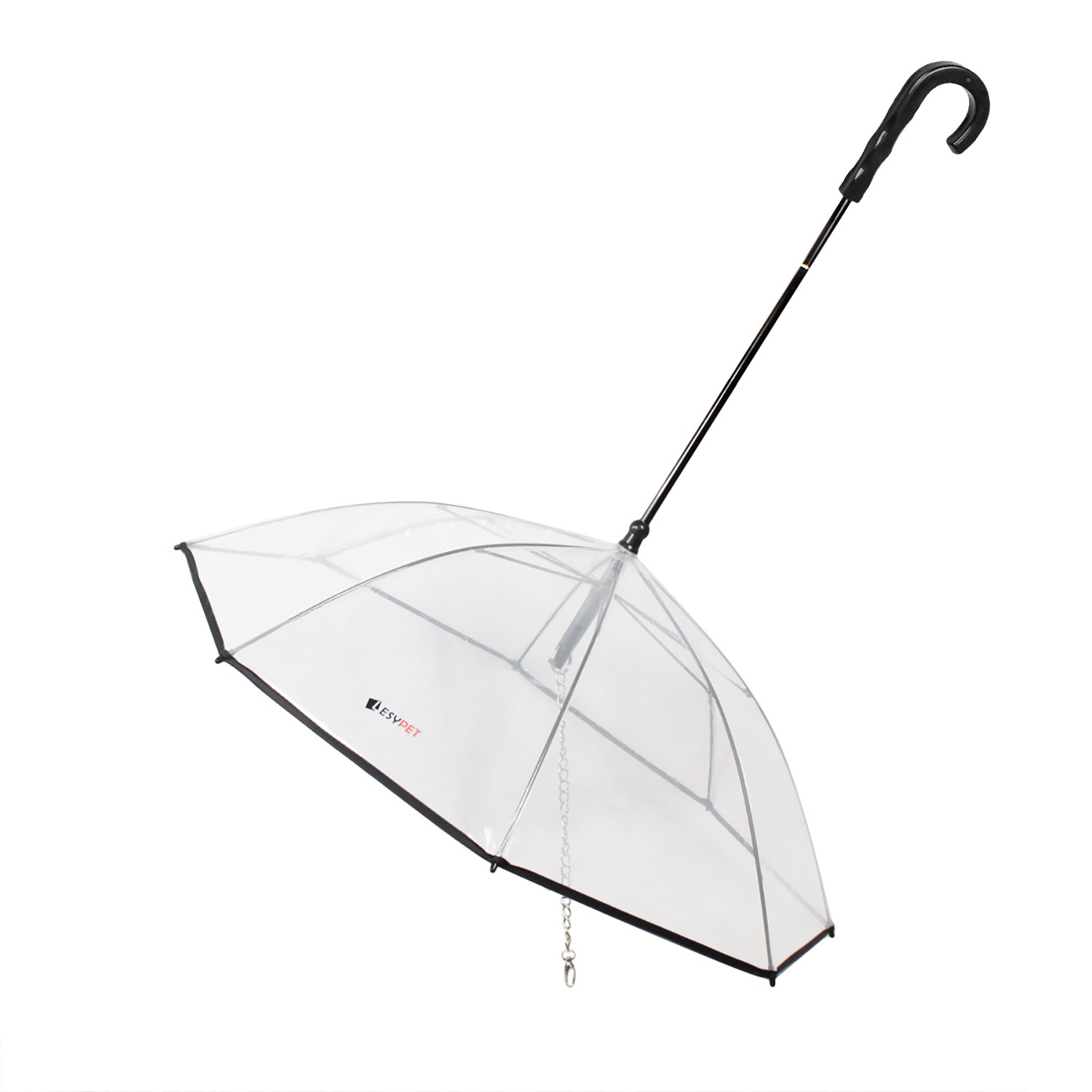 LESYPET Dog Umbrella - Pet Umbrella with Leash for Rain Snow Wind Protection for Doggy Puppy