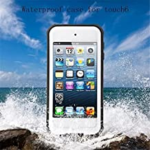 iPod Touch 6 Waterproof Case, KAMII [New Release] Knight Series Waterproof Shockproof Dirtproof Snowproof Case Cover with Kickstand for Apple iPod Touch 5th 6th Generation (White)