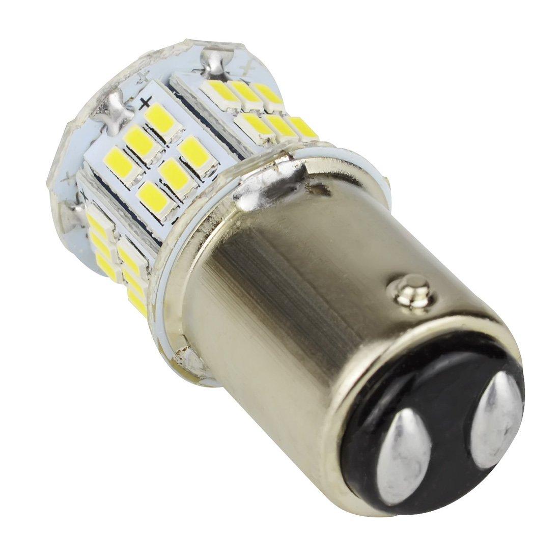 Safego 2x Bombillas LED 1157 P21//5W BAY15D 54 SMD 3014 Luz de Estacionamiento Luz Exterior Coches Motos 12V Blanco 6000K