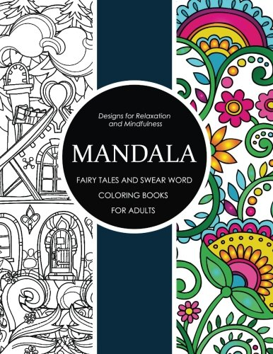 Mandala fairy tales and swear word coloring books for Colouring books for adults ebay
