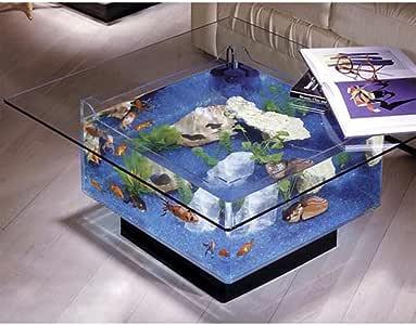Midwest Tropical Fountain 25 Gallon Aqua Coffee Table Aquarium Tank