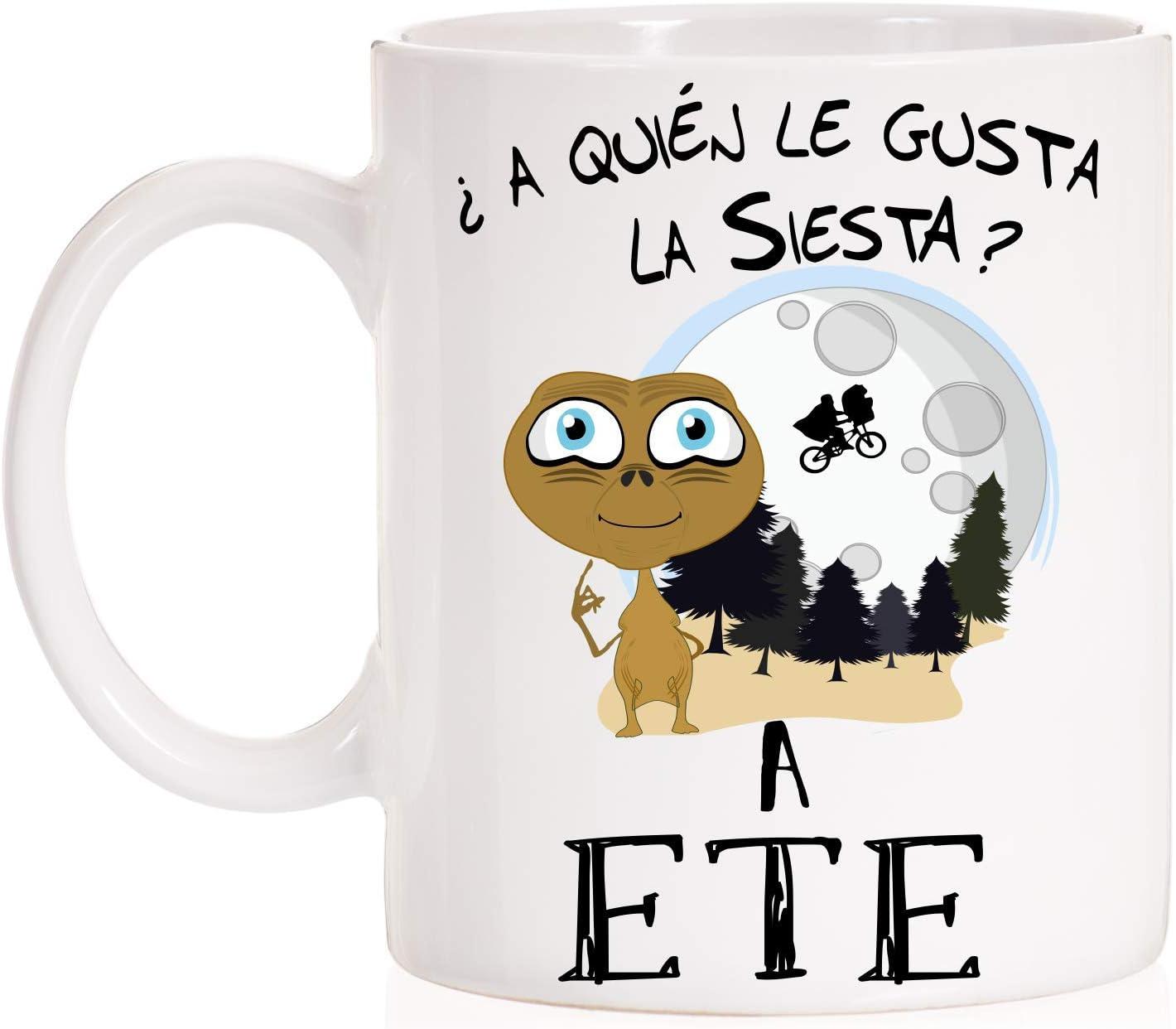 MardeTé Taza ¿ A Quién le Gusta la Siesta? a ETE. Divertida Taza E.T. Taza Desayuno o Mejor para levantarse de la Siesta.
