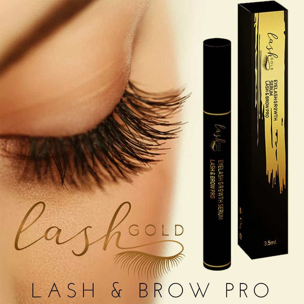 4c3370c6c2c Beauty Eyelash Growth Serum Lash & Brow Pro Conditioner - Lash Gold  Eyelash/Eyebrow Advanced Enhancer and Booster 3.5ml - Best Seller -  Hypoallergenic ...