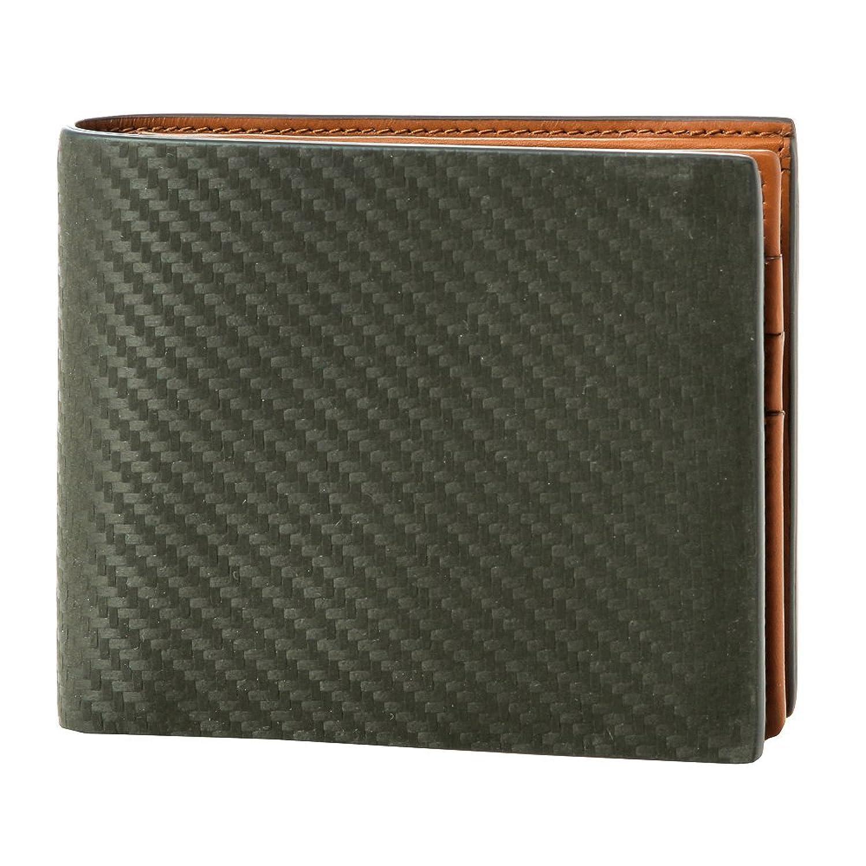 ダンヒル(dunhill) シャーシ CHASSIS L2V531V 2つ折り財布 ダークグリーン/ライトブラウン[並行輸入品] B01FHANVEO