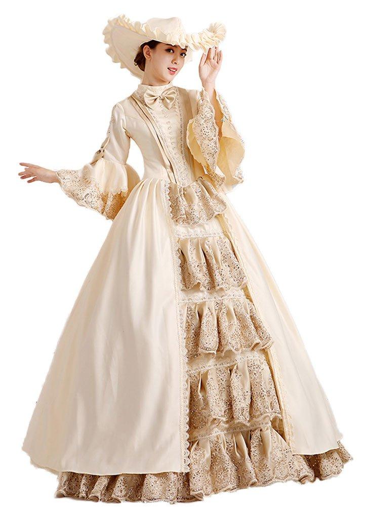 Zukzi Women's Gorgeous Gothic Victorian Dress Costume for Wedding, Custom
