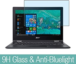 "Synvy Anti Blue Light Tempered Glass Screen Protector for Acer Spin 1 SP111-33 / SP111-34N 11.6"" Visible Area 9H Protective Screen Film Protectors (Not Full Coverage)"