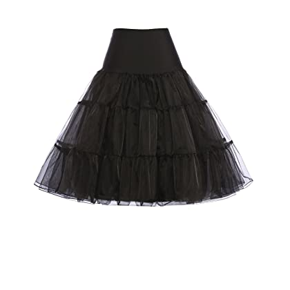 f19b1a63370e3 ... GRACE KARIN Women s 50s Vintage Petticoat Crinoline Tutu Underskirts  Plus Size S-3X ...