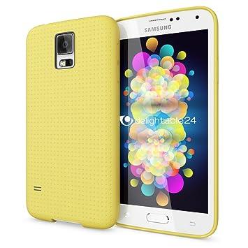 NALIA Funda Carcasa Compatible con Samsung Galaxy S5 S5 Neo, Protectora Movil Silicona Fina Bumper Estuche con Puntos, Goma Telefono Cubierta ...