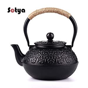 Cast Iron Teapot, Sotya Tetsubin Japanese Tea Kettle with Infuser (1200ml/40oz)