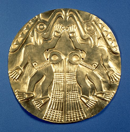 (Posterazzi Poster Print Collection Pre-Columbian Gold 1000 Ad./Ngold Plaque with Repousee Decoration from Panama C1000 a.D, (24 x 36), Multicolored )