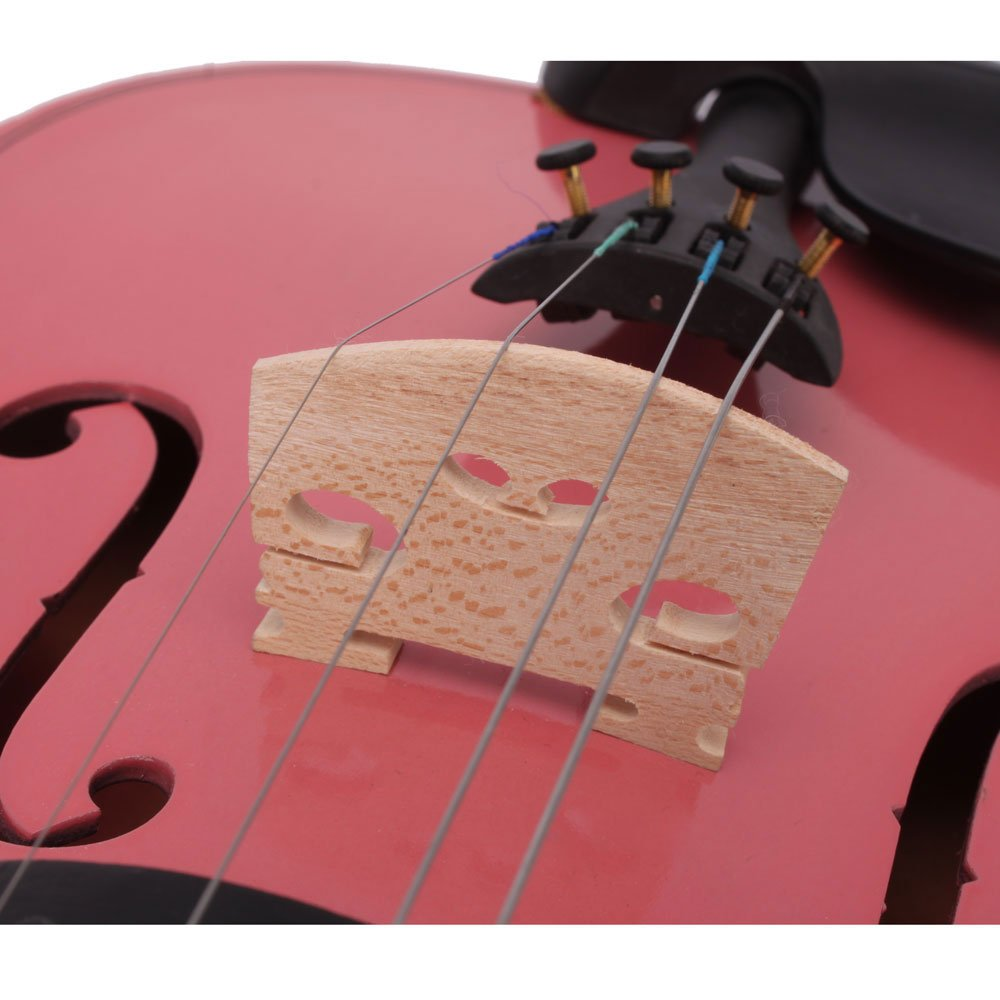DESERT FOX 4/4 Full Size Acoustic Violin,Made from Basswood with Hard Case, Bow and Rosin (Pink) by DESERT FOX (Image #7)