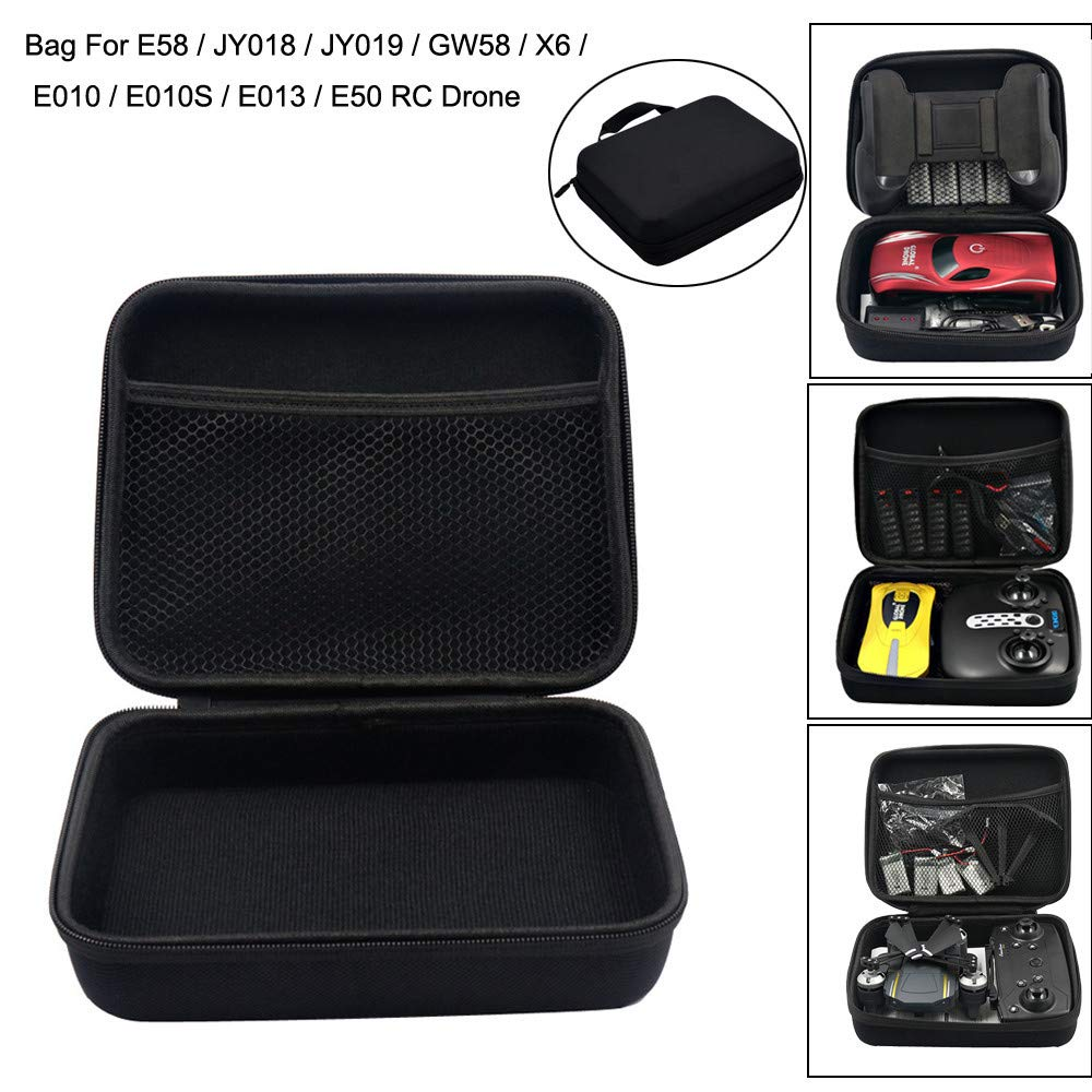 Pollyhb for RC Drone E58 / JY018 / JY019 Foldable RC FPV Drone Handbag Carrying Bag Box Bag