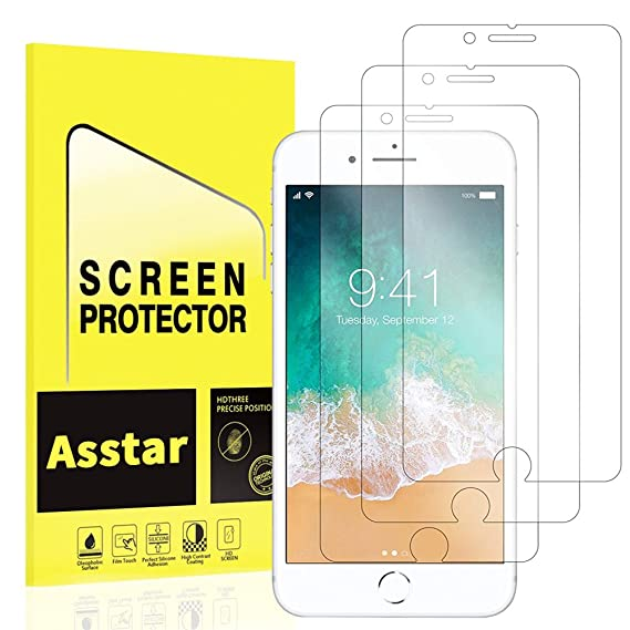 f816e380178 iPhone 7 Plus Screen Protector, [3 Pack] Asstar Tempered Glass  Scratch-Resistant