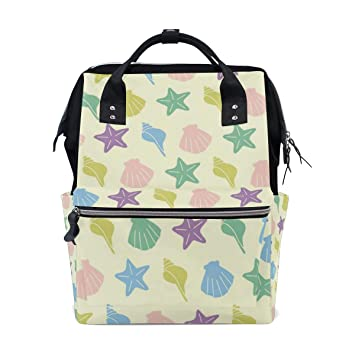 c7e746ca0a51 Amazon.com : MAPOLO Ocean Sea Shell Conch Starfish Diaper Backpack ...