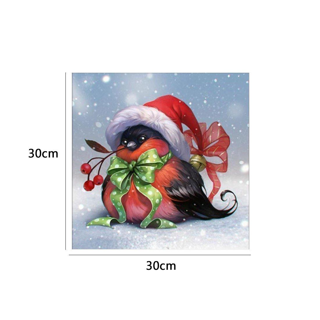 joyliveCY 5D DIY Diamant Malerei Weihnachten Vogel Stickerei Strass ...