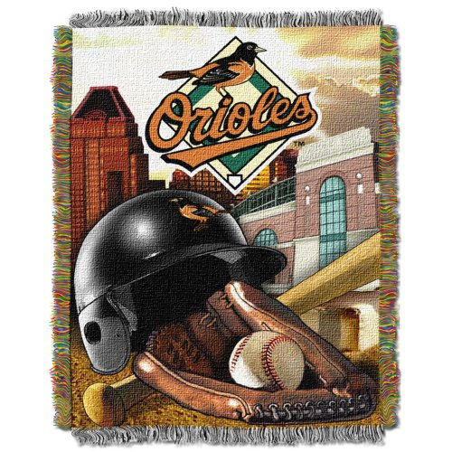 MLB Baltimore Orioles Home Field Advantage Woven Tapestry Throw, 48