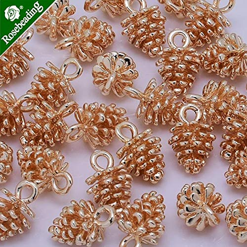 (Pine Cone, Flower Bud Pendants | Suit for Necklace, Bracelets, Earrings (10pcs/lot))