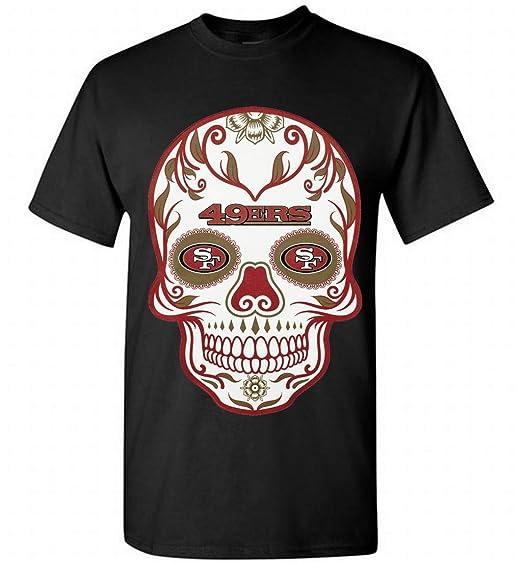 amazon com san francisco 49ers skull shirt men black xl clothing