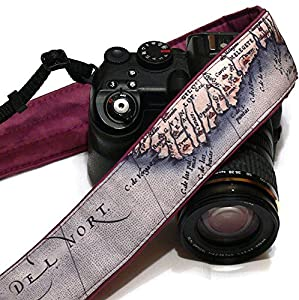 World Map Camera Strap. Vintage Camera Strap. Photo camera Accessories. SLR, DSLR Camera Strap. Gift For Photographer; 093