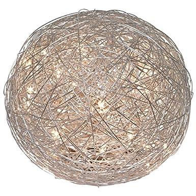 MIA Draht Kugel Tisch Leuchte LED// Modern// Silber// Nacht Lampe Deko Geflecht Nac