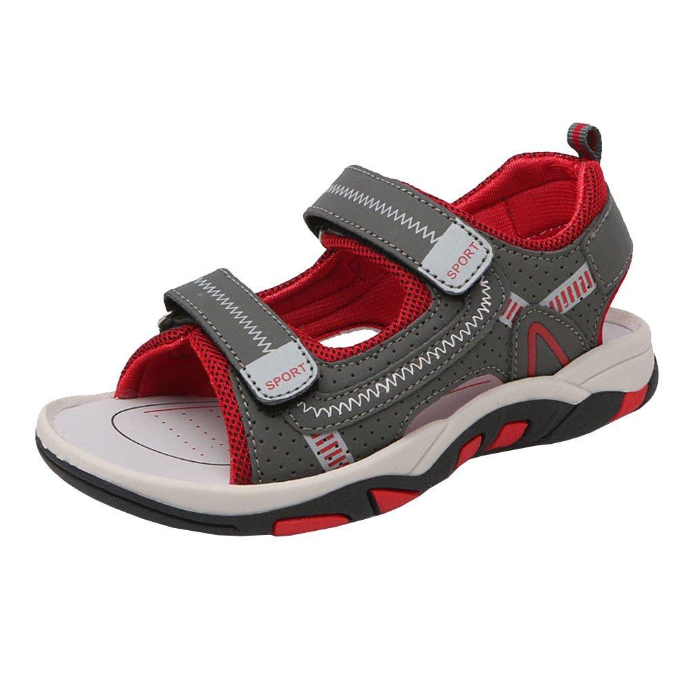 003c1318b0e Enfant Garçon Fille Été Sandales de Marche Extérieur Plates Souple Semelle  Velcro Chaussures Sport Bout Fermé Tongs Antidérapant Beach Sandales Filles  Doux ...