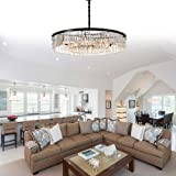 Meelighting Crystal Chandeliers Modern Contemporary Ceiling Lights Fixtures Pendant Lighting for Dining Room Living Room Chandelier
