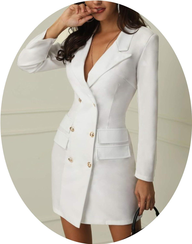 Blazer Dress White Black Navy Dark Green Robe Blazer Slip Dress Office Casual Blazer Vestido White L At Amazon Women S Clothing Store