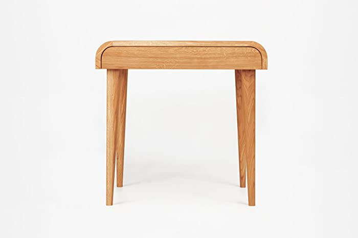 Amazon.com: Small Computer Desk Office Furniture Writing Desk Natural Oak  Wood Office Furniture Mid Century Scandinavian Design Small Desk With  Drawers: ...