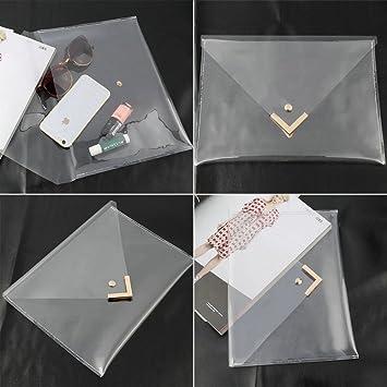 a735bc1e62 DatConShop(TM) Women Clear Envelope Clutch PVC Vinyl Studded Purse Bag  Handbag Transparent  Amazon.co.uk  Hi-Fi   Speakers