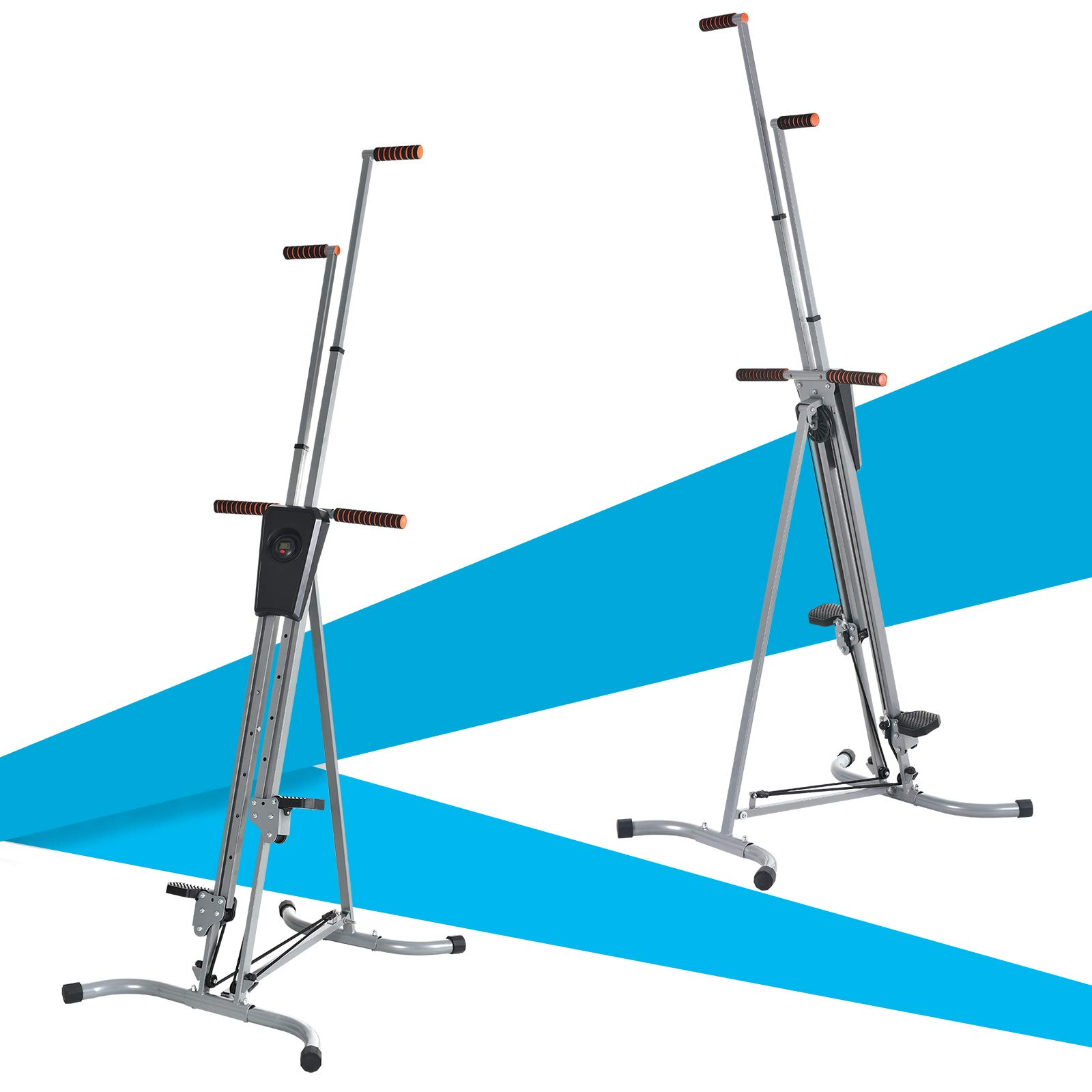 Murtisol Exercise Climber Fitness Vertical Climbing Cardio Machine with LCD Monitor,Natural Climbing Experience for Home Body Trainer by Murtisol (Image #6)