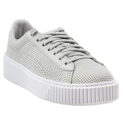 newest 7b8b3 5e47d Amazon.com | PUMA Women's Basket Platform Perforated ...