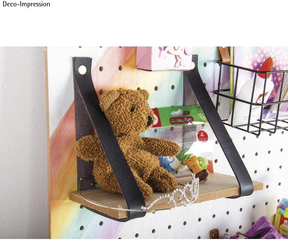 Rayher 62868505 mensola in MDF impiallacciato per pannello forato Pin /& Peg dimensioni 20 x 10 x 0,9 cm per progetti decorativi in casa