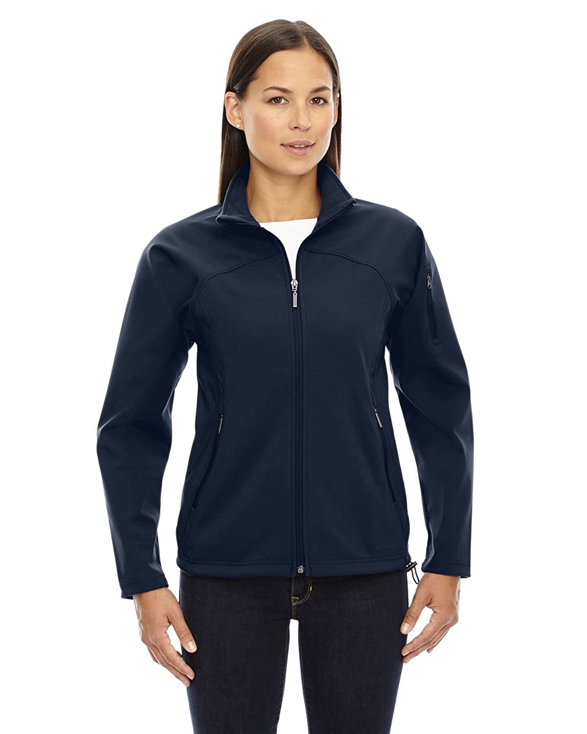 Midn Navy 711 3XL Ash CityNorth End 78034 Ladies' Three-Layer Fleece Bonded Performance Soft Shell Jacket
