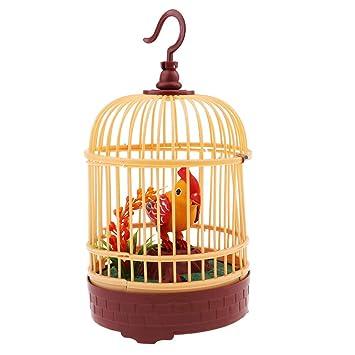 Juguetes de Sonido Activado Pájaro en Jaula Decoración ...