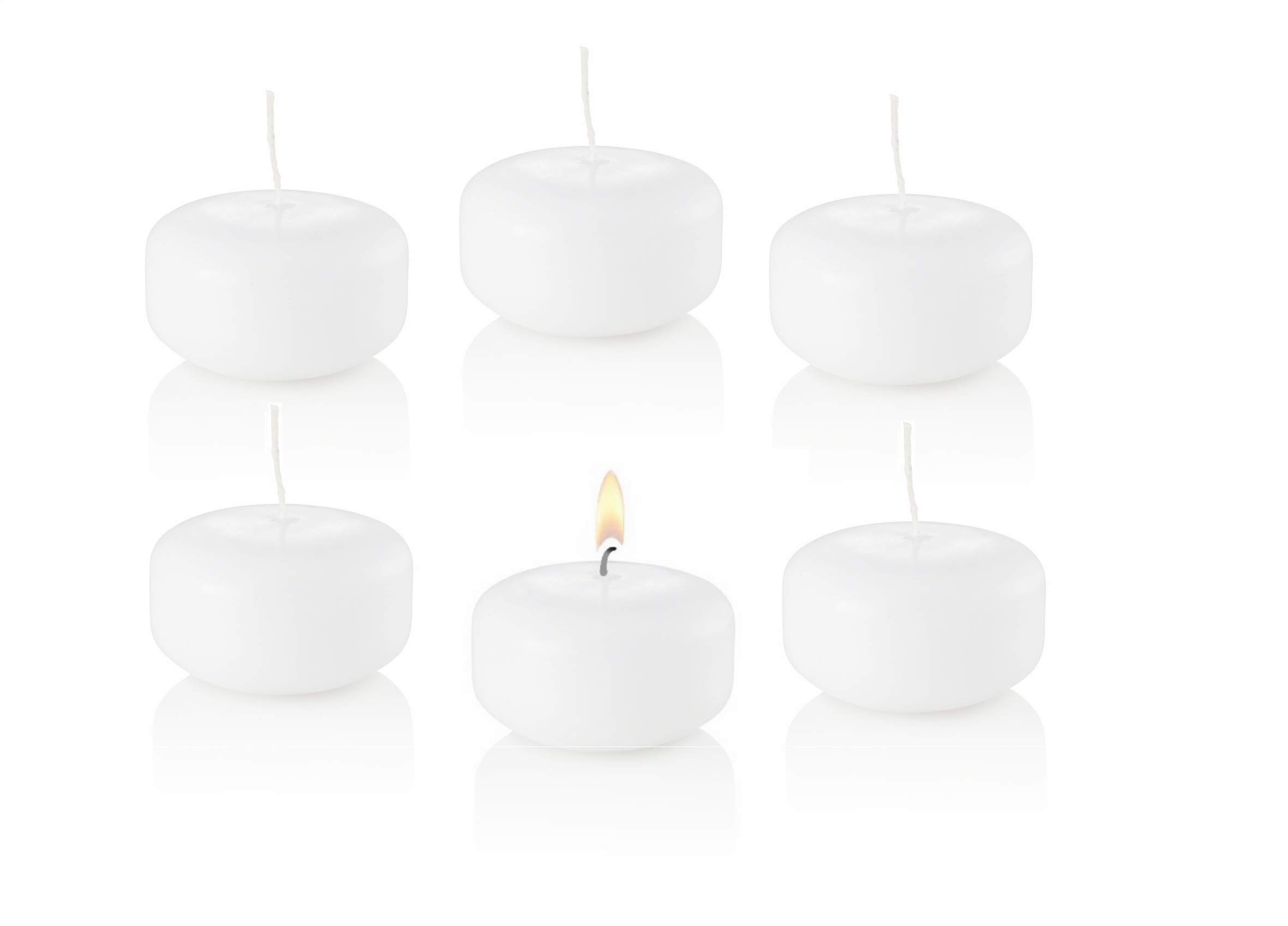 D'light Online Small 2 Inch Bulk Event Pack Floating Candles for Weddings, Spa, Home Decor, Special Occasions and Holiday Decorations (Set of 144, White)