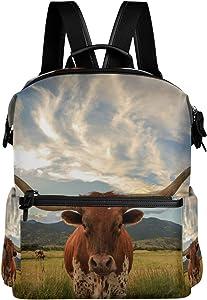 La Random Texas Longhorn Steer Large School Backpack Book Bag Laptop Travel Daypack for Girls Boys