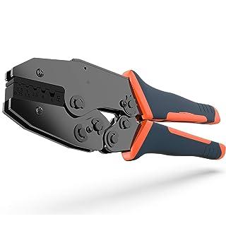 Crimpadora Terminales,Alicates de engarce Alicates de extremo de alambre - Alicates de engarce profesionales con función de trinquete para casquillos
