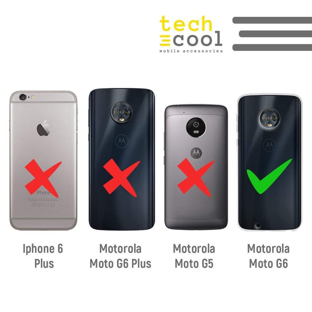 Textura m/ármol Rosa diluido Azul Funnytech/® Funda Silicona para Motorola Moto G6 Gel Silicona Flexible, Dise/ño Exclusivo