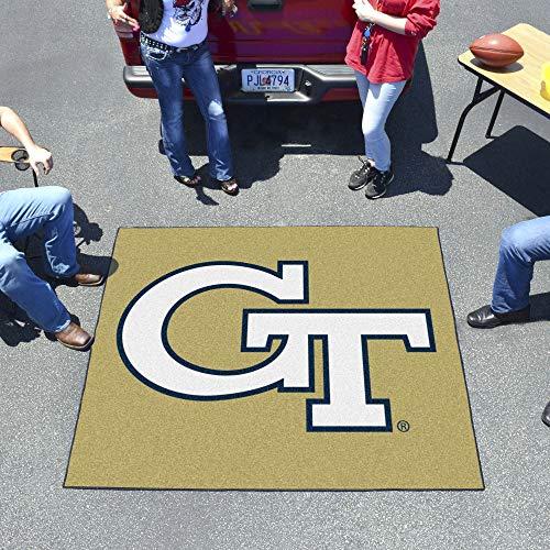 (FANMATS NCAA Georgia Tech Yellow Jackets Nylon Face Tailgater Rug)