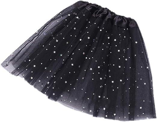 HeiHy Falda de Ballet Brillante para niña con tutú de Princesa ...