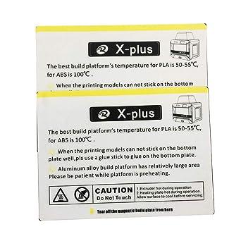 Amazon.com: Pegatina para cama QIDI TECH X-Plus impresora 3D ...