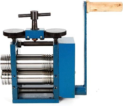 Iron 75mm Roll Presser Good Wear Resistance Combination Jewelry Rolling Mill Tabletting Machine Roller Wire Flat Pattern Sheet Metal Jewelry Marking DIY Tool Manual Rolling Mill Machine